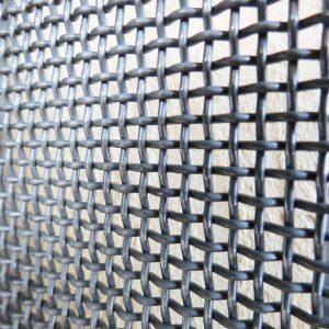 Reti metalliche ondulate e tessute
